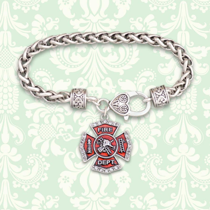 Firefighter Badge Braided Clasp Bracelet-Military Republic