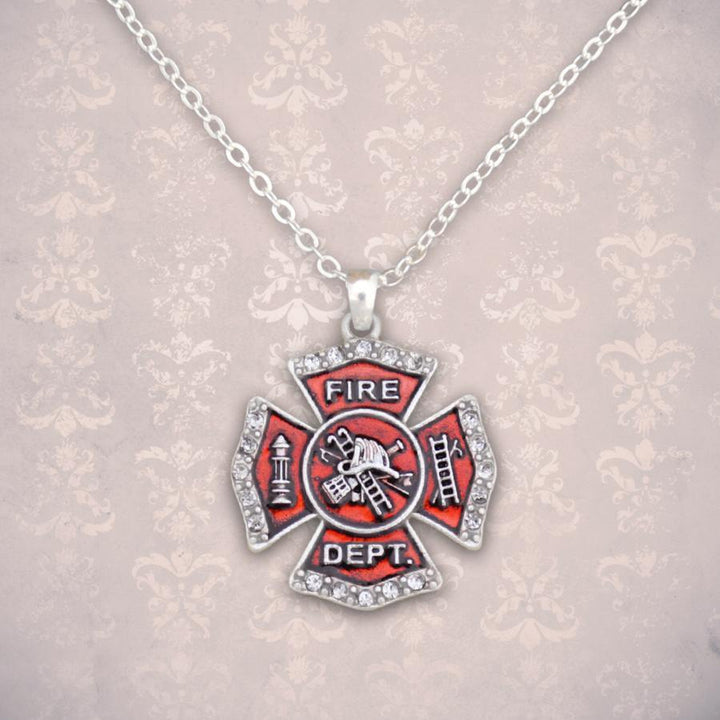 Firefighter Badge Necklace-Military Republic