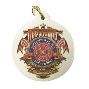 Firefighter Badge Of Honor Christmas Ornament-Military Republic