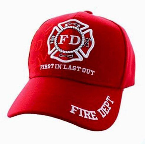 Firefighter Baseball Cap Solid Red