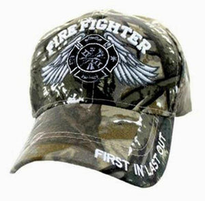 Firefighter Baseball Hunting Camo Cap