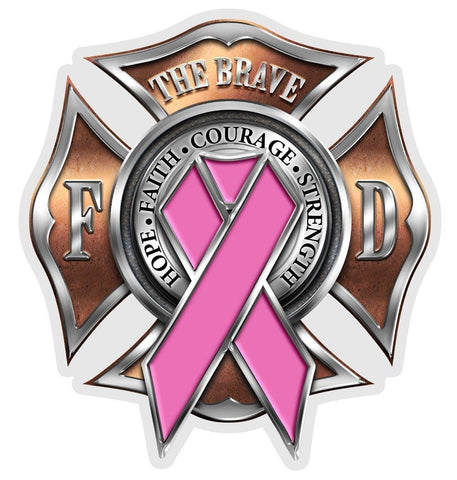 Firefighter - Breast Cancer Awareness Decal-Military Republic