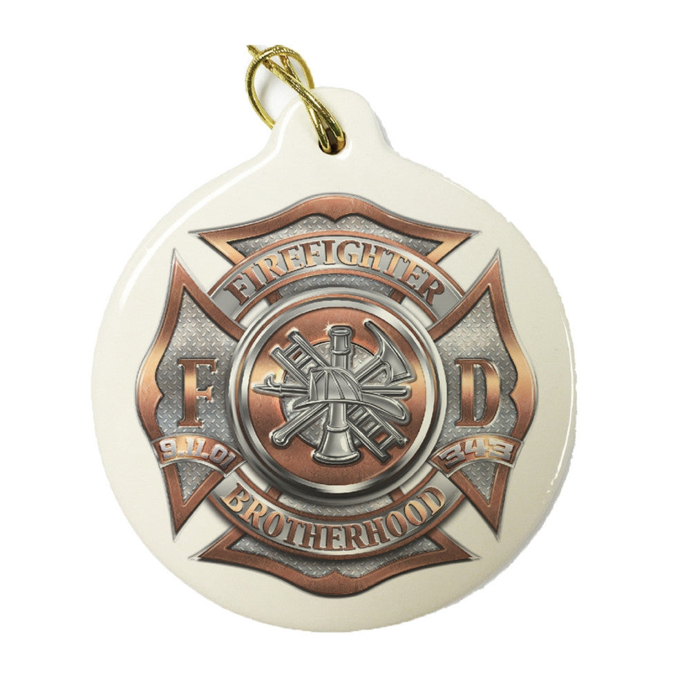 Firefighter Brotherhood Christmas Ornament-Military Republic
