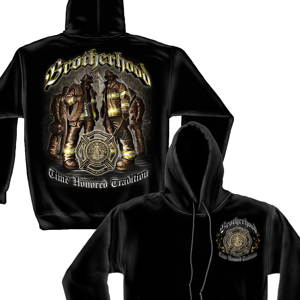 Firefighter Brotherhood Hoodie-Military Republic