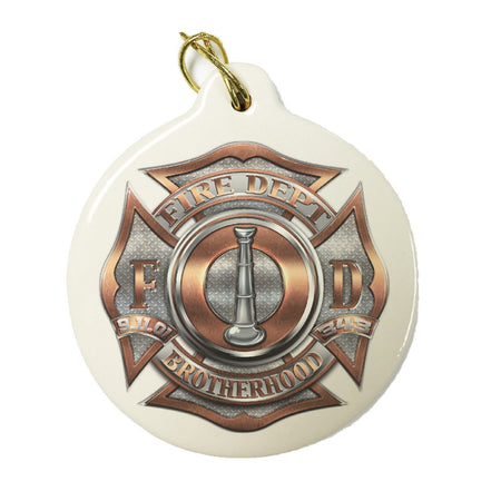 Firefighter Bugle Ranking 1 Christmas Ornament-Military Republic