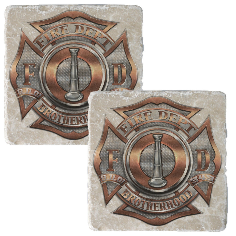 Firefighter Bugle Ranking 1 Coaster-Military Republic