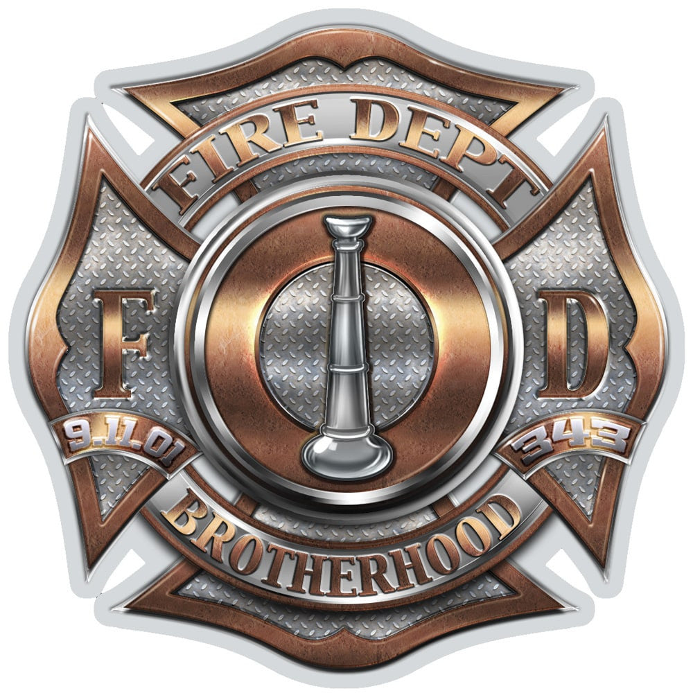 Firefighter Bugle Ranking 1 Decal-Military Republic