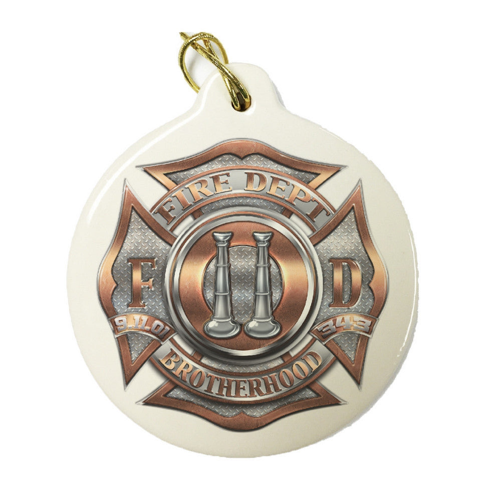 Firefighter Bugle Ranking 2 Christmas Ornament-Military Republic