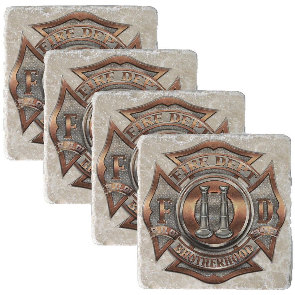 Firefighter Bugle Ranking 2 Coaster-Military Republic