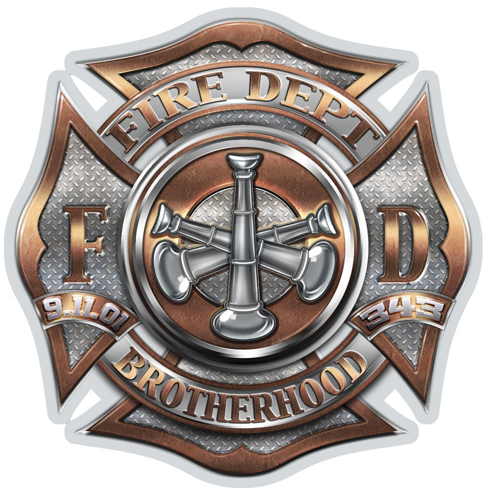 Firefighter Bugle Ranking 3 Decal-Military Republic