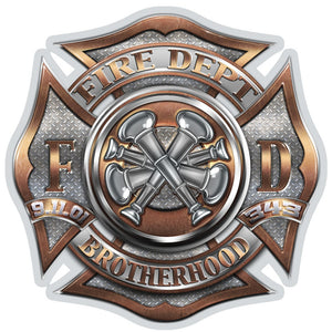 Firefighter Bugle Ranking 4 Decal-Military Republic