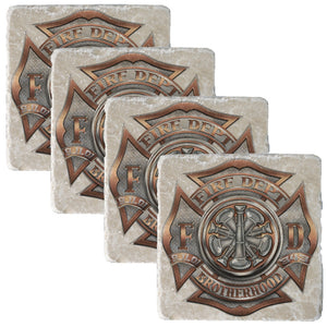 Firefighter Bugle Ranking 5 Coaster-Military Republic