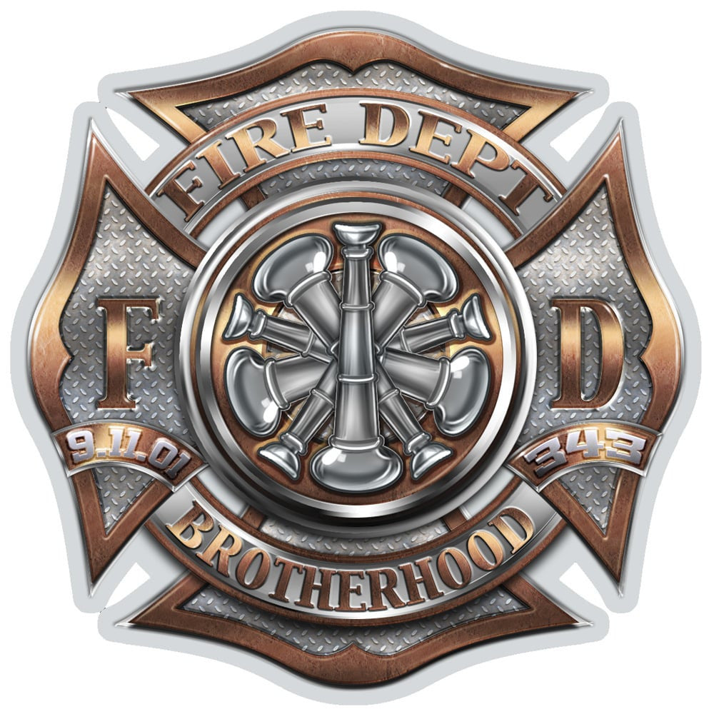 Firefighter Bugle Ranking 5 Decal-Military Republic