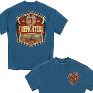 Firefighter Denim Fade T Shirt-Military Republic