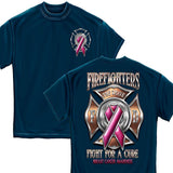 Firefighter Fight for a Cure Cancer Awareness T Shirt-Military Republic