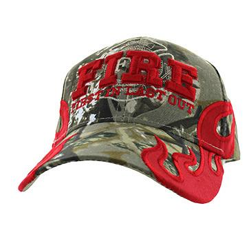 Firefighter FIRE First in Last Out Camo Cap