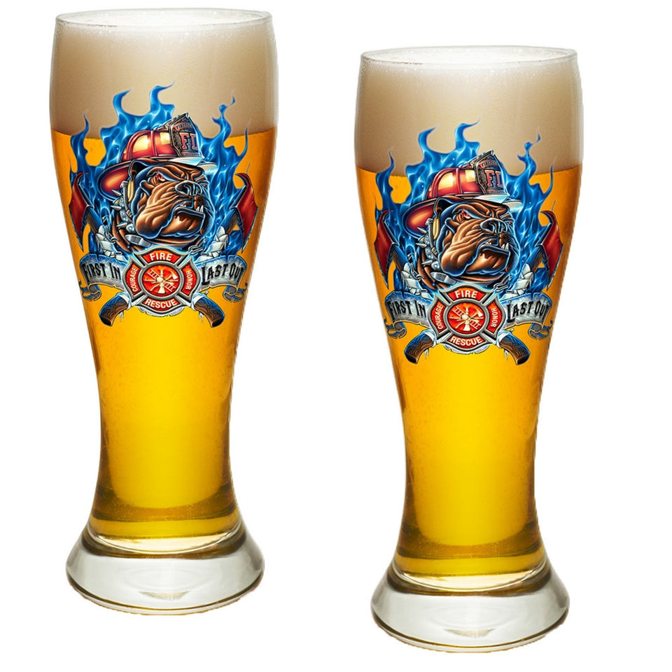 Firefighter First In Last Out Pilsner Glass Set-Military Republic