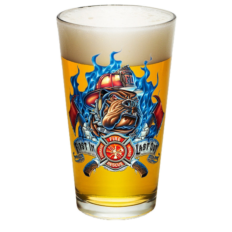 Firefighter First In Last Out Pint Glasses-Military Republic