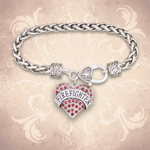 Firefightere Heart Braided Clasp Bracelet-Military Republic