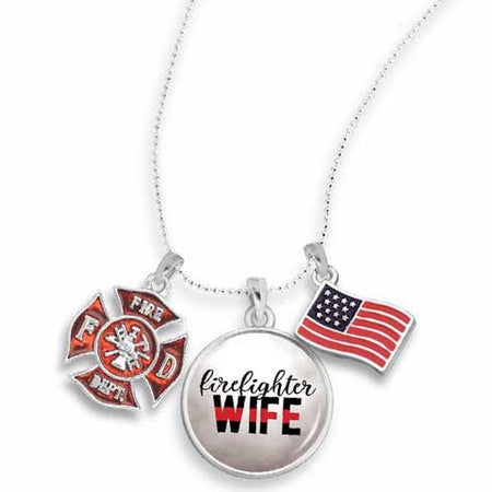 Firefighter Necklace for Wife