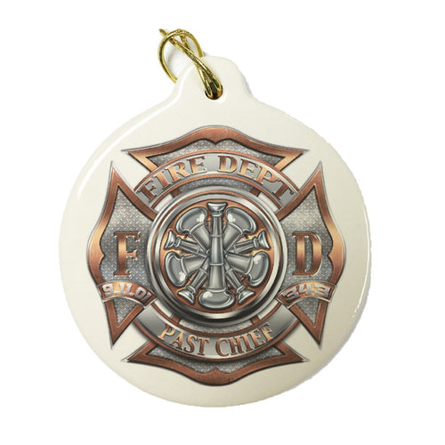 Firefighter Past Chief Christmas Ornament-Military Republic