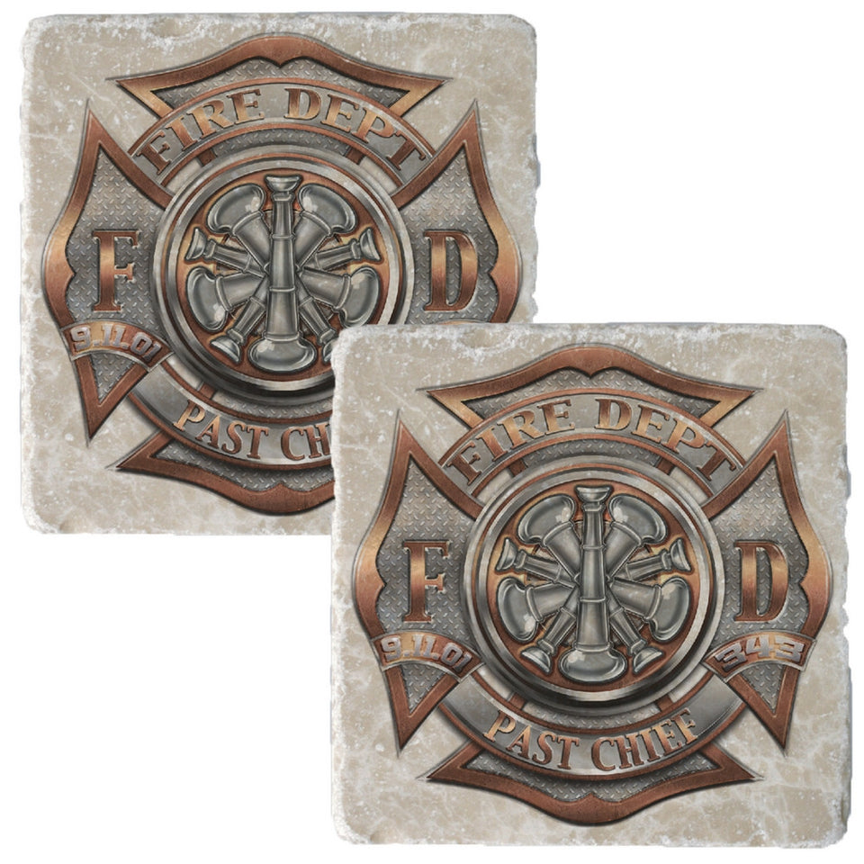 Firefighter Past Chief Coaster-Military Republic