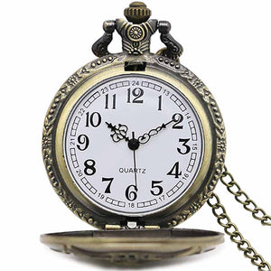 Vintage Firefighter Quartz Analog Pocket Watch