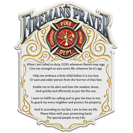 Firefighter Prayer Decal-Military Republic
