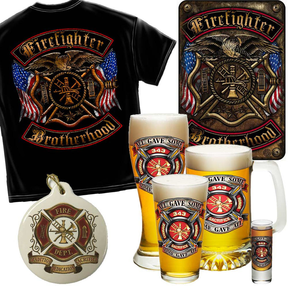 Firefighter Proud Holiday Gift Set-Military Republic