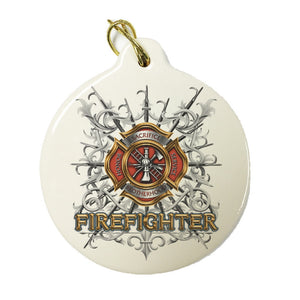 Firefighter Swords Christmas Ornament-Military Republic