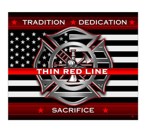 Firefighter Thin Red Line Blanket-Military Republic