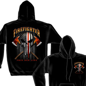 Firefighter Thin Red Line Hoodie