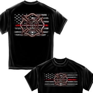 Firefighter Thin Red Line T-Shirt-Military Republic