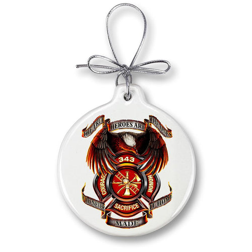 Firefighter True Hero Christmas Ornament