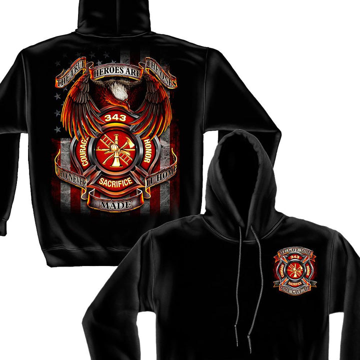 Firefighter True Hero Hoodie-Military Republic