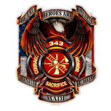 Firefighter True Heroes Decal-Military Republic