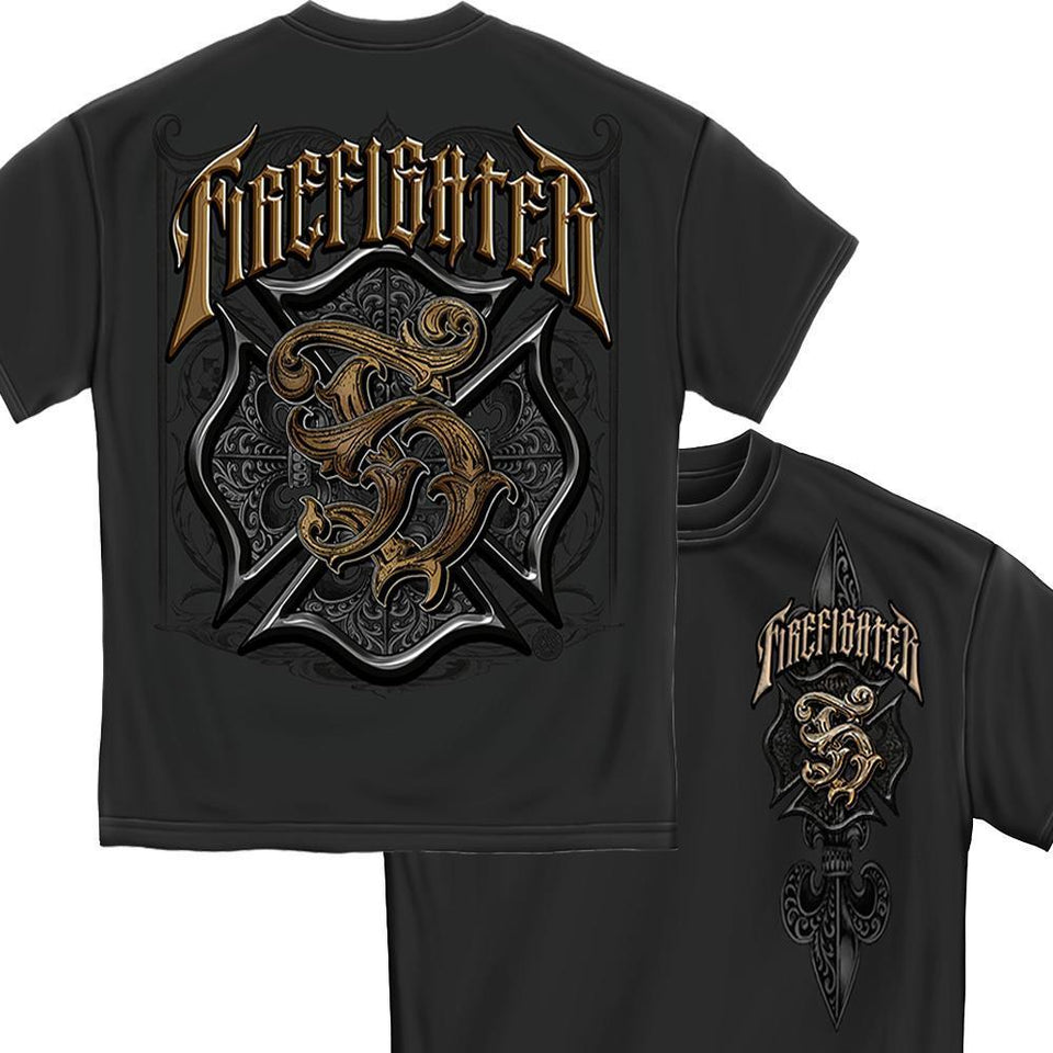 Firefighter Vintage T Shirt-Military Republic