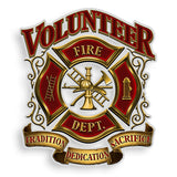 Firefighter Volunteer Decal-Military Republic