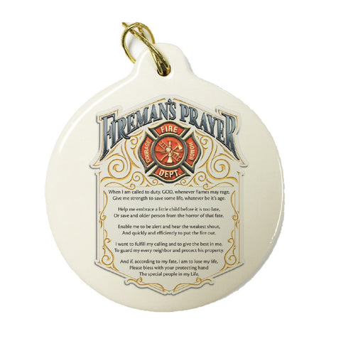 Fireman's Prayer Christmas Ornament-Military Republic