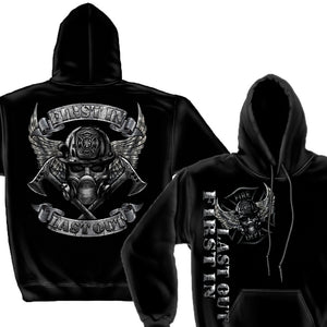 First In Last Out Firefighter Hoodie-Military Republic
