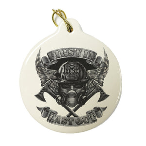 First In Last Out Skull Christmas Ornament-Military Republic