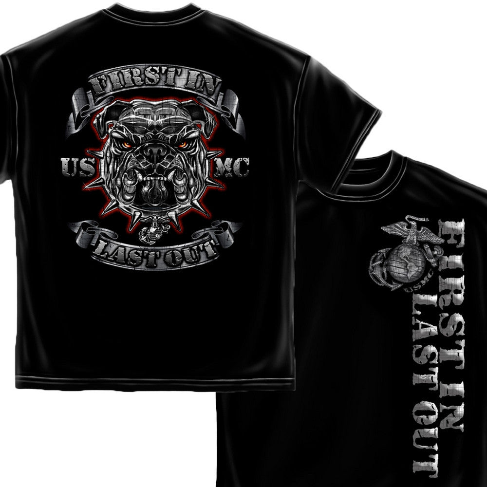 First In Last Out T-Shirt-Military Republic