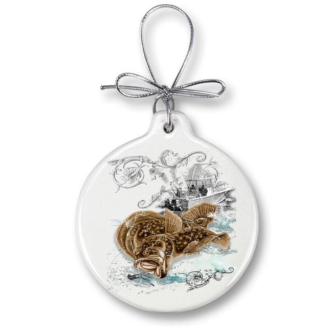 Fluke Fishing Christmas Ornament