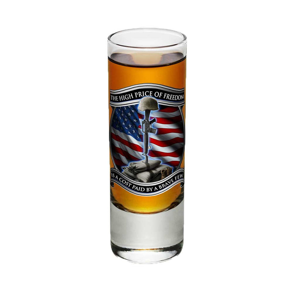 Freedom Is Never Free Shot Glasses-Military Republic