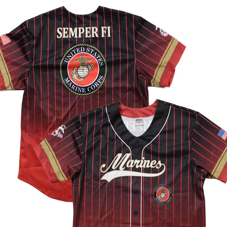 Full sublimation U.S. Marines Baseball Jersey