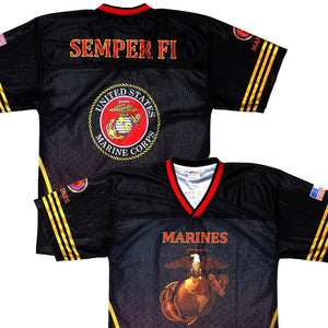 Full-Sublimation Marines Football Jersey-Military Republic