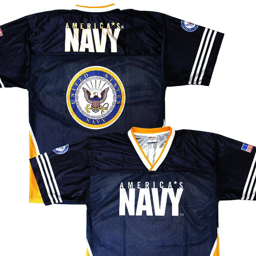 Full-Sublimation Navy Football Jersey-Military Republic