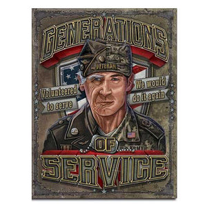 Generations of Service Tin Sign-Military Republic