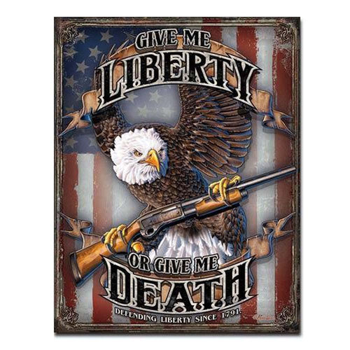 Give Me Liberty Tin Sign-Military Republic