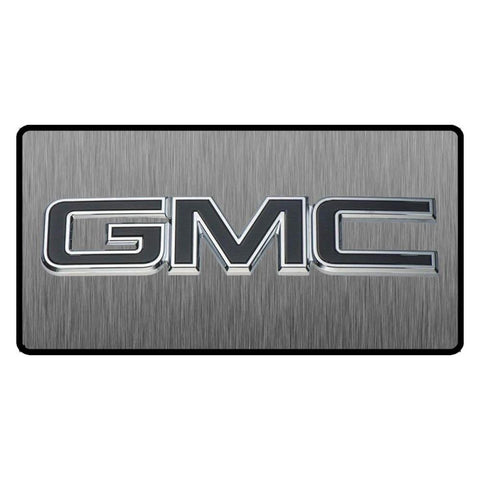 GMC Navy Blue Logo 3D Look Flat Photo License Plate